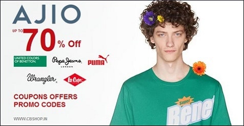Ajio Coupons - Save up to 80% on Fashion | Cbshop.in