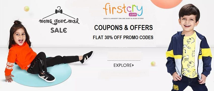 Firstcry Coupons - Flat 30% OFF on Kids & Baby Products | Cbshop.in