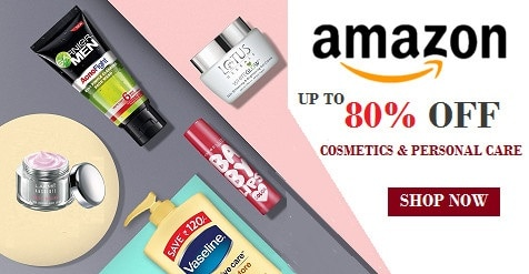 Amazon Coupons - Up to 80% OFF on Cosmetics & Personal care products