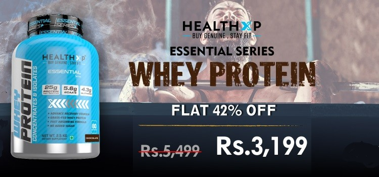 Flat 42% OFF on HealthXP Whey Protein