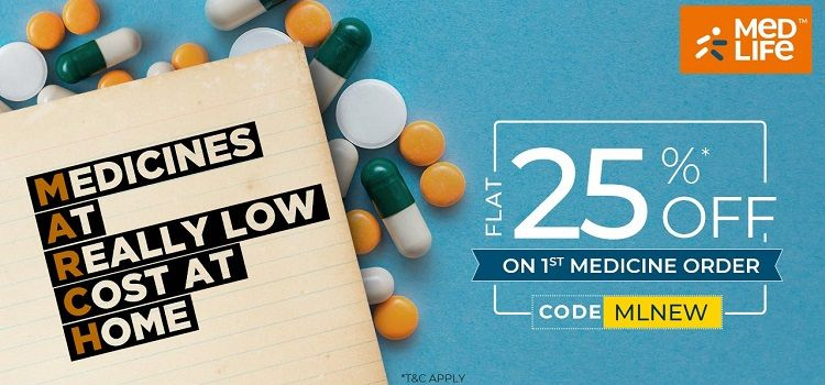 Flat 25% OFF on Medicines (New User)