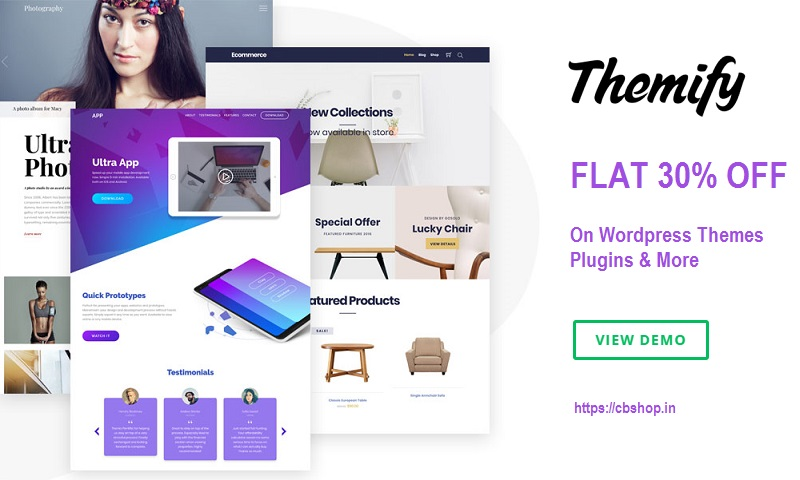 Themify Coupons - Save FLAT 30% on WordPress Themes Plugins