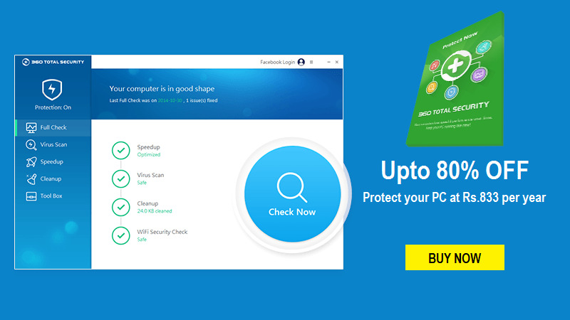 360 Total Security Coupons - Up to 80% OFF today | Cbshop.in