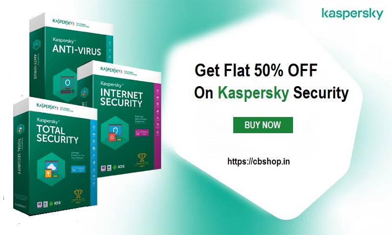 Kaspersky Coupons - Flat 50% OFF Promo codes | Cbshop.in