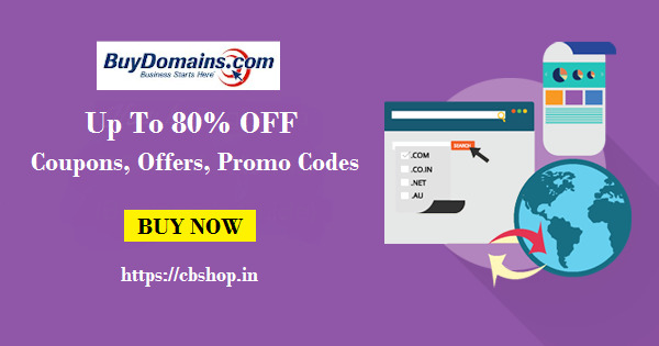 BuyDomains Coupons - Upto 80% OFF Coupon codes | Cbshop.in