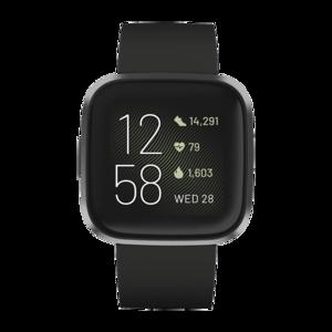 Fitbit Versa 2 Smartwatch (FB507BKBK, Black/Carbon)
