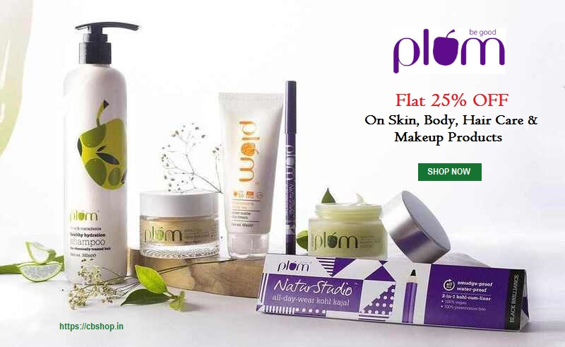 Plum Coupons - FLAT 25% OFF Coupon Code | Cbshop.in