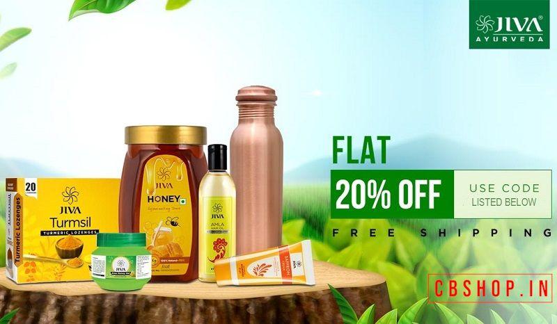 Jiva Ayurveda Coupons - Flat 20% OFF Coupon Code | Cbshop.in